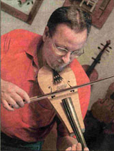 Gerry believes his Mountain Fiddle sounds Oriental!